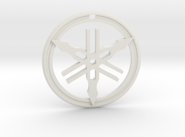 Yamaha Keychain in White Natural Versatile Plastic