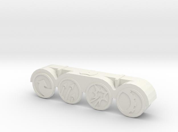 Armada Command Tokens Insert in White Natural Versatile Plastic
