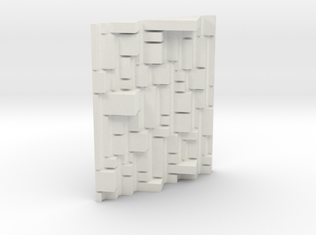 Mondrian 3D exploration. in White Strong & Flexible