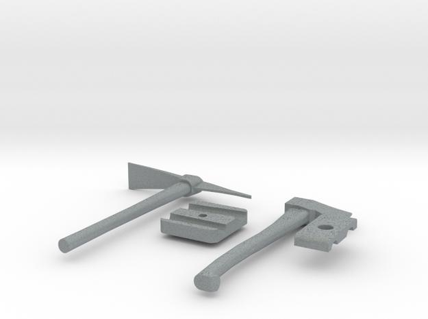 1/10 Scale axe - pick kit in Polished Metallic Plastic