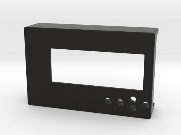 RPI LCD Cover Top in Black Strong & Flexible