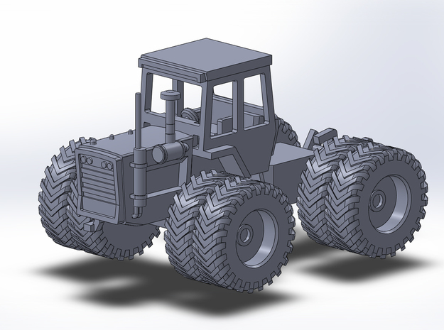 1:160/N-Scale Massey Ferguson 1505 On Duals in Frosted Ultra Detail