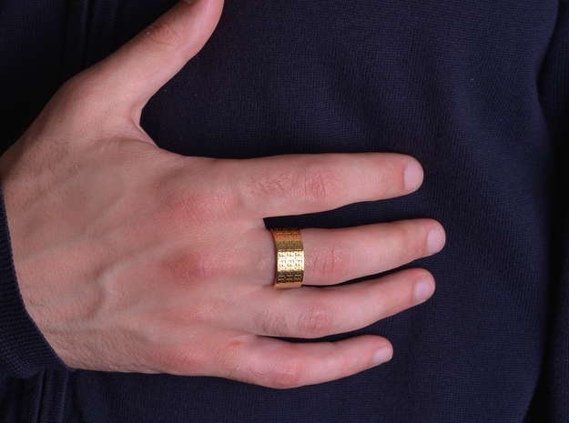 FREEFUTURE F5-2 RING, US size 13.5, d=22.5mm (size in 18k Gold Plated