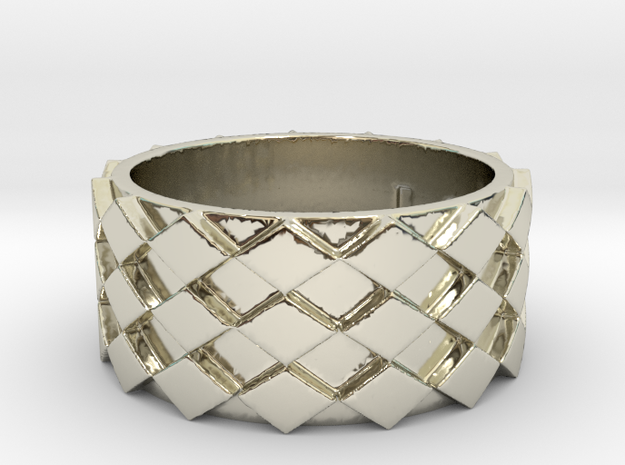 Futuristic Diamond Ring Size 9 in 14k White Gold