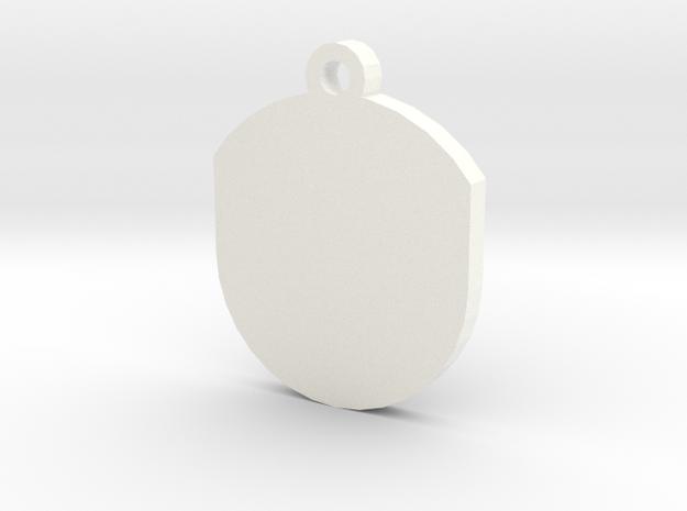 Customisable Insert for Circular Frame Pendant in White Processed Versatile Plastic