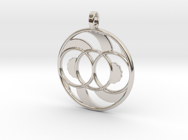 LIFE SPIRAL ONE in Rhodium Plated Brass