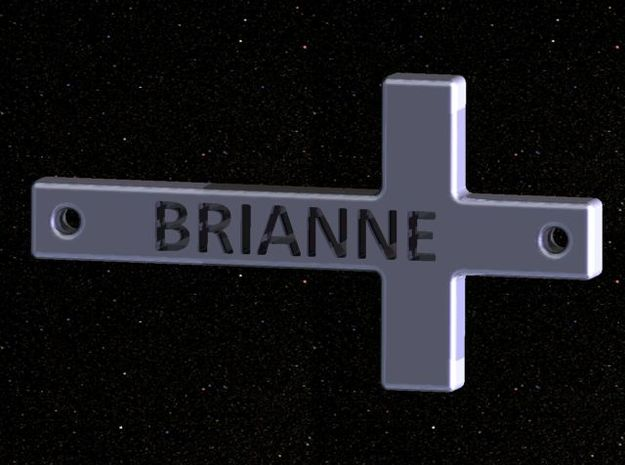 Cross (w/optional name engraved) 3d printed