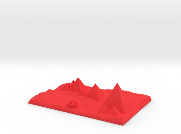 traditional view Pyramids Of Giza And Sphinx Model 3d printed