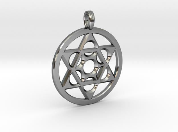 METATRON STAR SIX in Fine Detail Polished Silver
