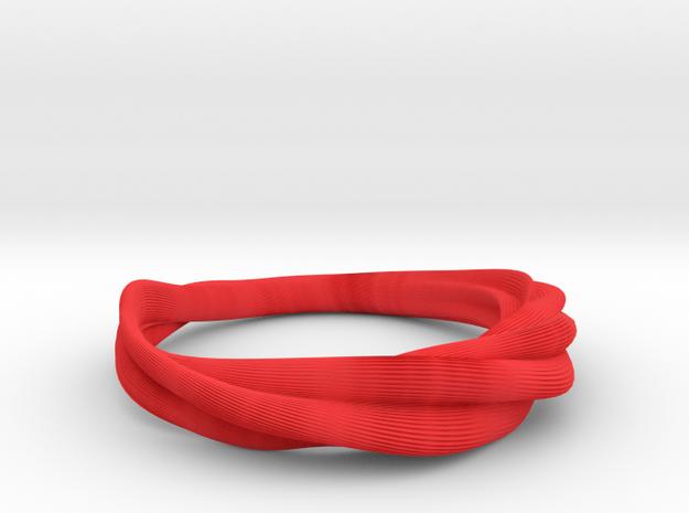 Crease Bracelet Print02 SizeM-60mm 3d printed Side View of Crease Bracelet