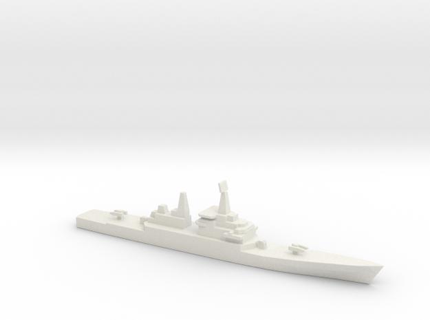 USS CGN-38 Virginia, 1/1800 in White Natural Versatile Plastic