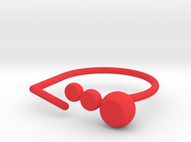 Ring gem. Model 1. Size 9. in Red Processed Versatile Plastic