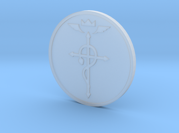 Elric Symbol Coin in Smooth Fine Detail Plastic