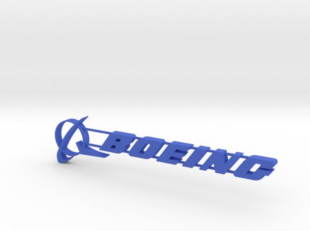 Boeing Everett Sign 04 in Blue Processed Versatile Plastic
