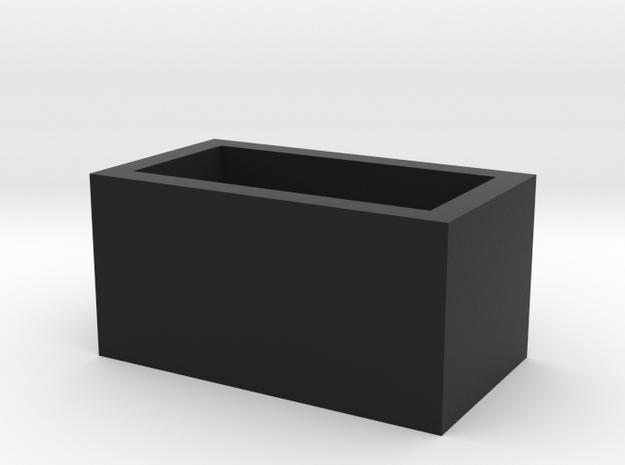 Speaker Box Closed in Black Natural Versatile Plastic