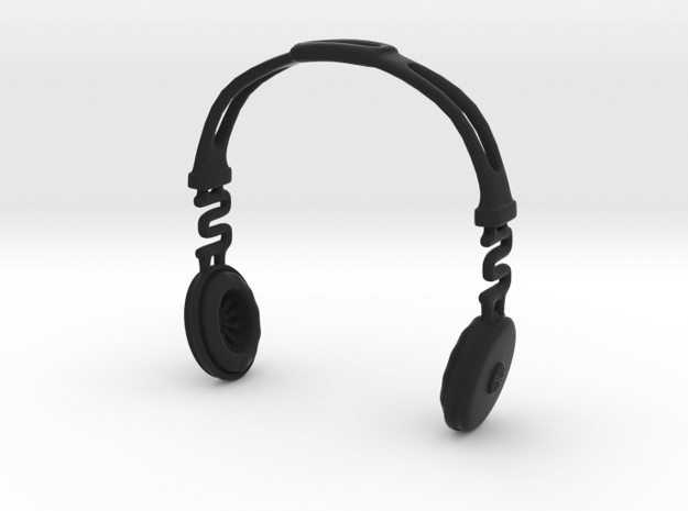 Headphones BOSS Version: BJD Doll MSD fourth size in Black Natural Versatile Plastic