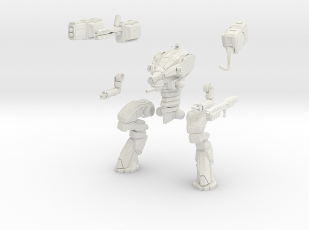 28mm scale mech - Wolverine in White Natural Versatile Plastic