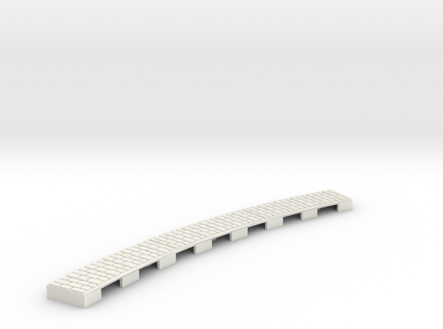 P-165stw-curve-wedge-long-250-204r-w-1a in White Natural Versatile Plastic