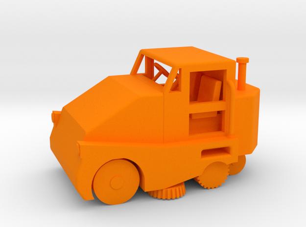 Pelican Street Sweeper HO 87:1 Scale in Orange Strong & Flexible Polished