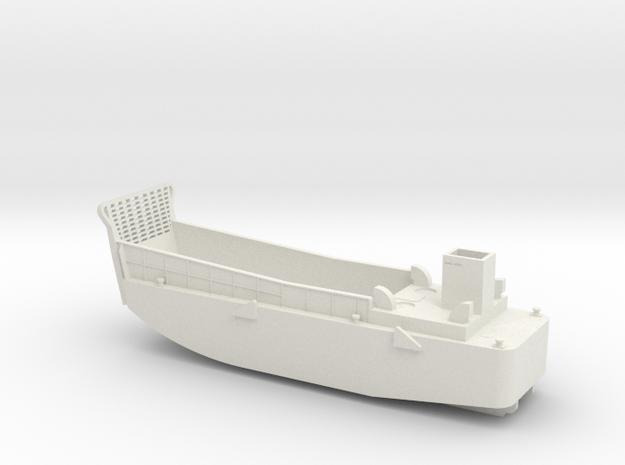 LCM3 Landing craft 1:144 scale for Big Gun Warship in White Natural Versatile Plastic