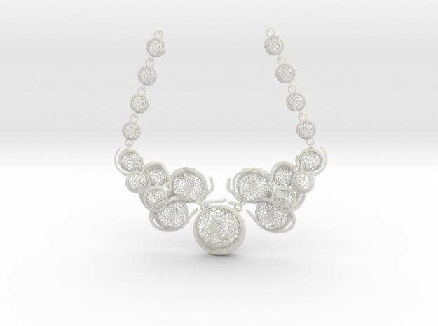 Aquar Necklace in White Natural Versatile Plastic