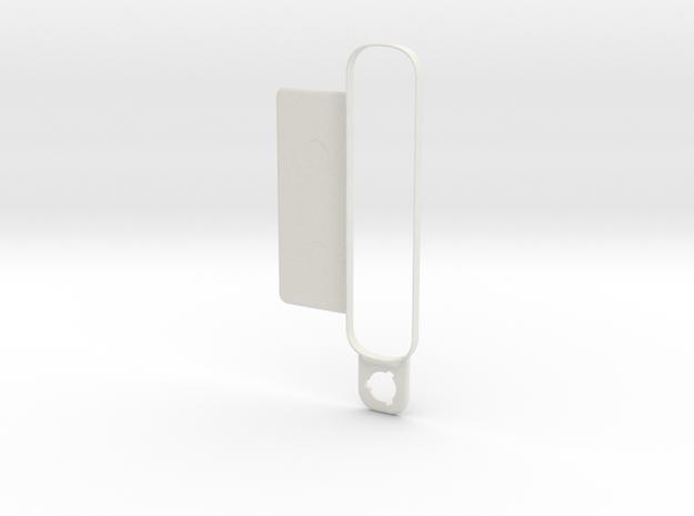 4eyesLensBracket-Collar-ForLens-Straight Plate in White Strong & Flexible