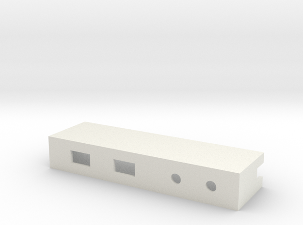 Drop-in Switch Holder with Two LED Holes - 1590B in White Strong & Flexible