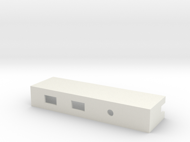 Drop-in Switch Holder with LED Hole - 1590B in White Strong & Flexible
