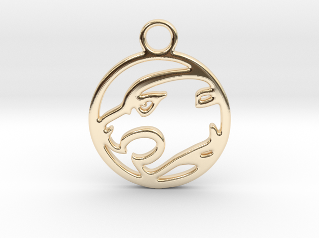 Panther Pendant in 14k Gold Plated Brass