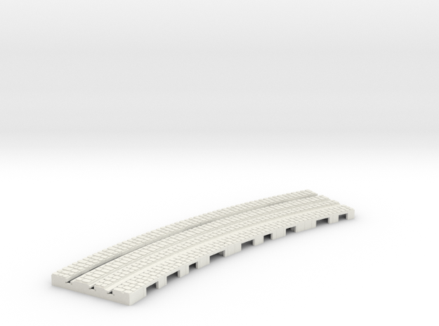 P-9-165stw-long-250r-curved-outside-1a in White Natural Versatile Plastic