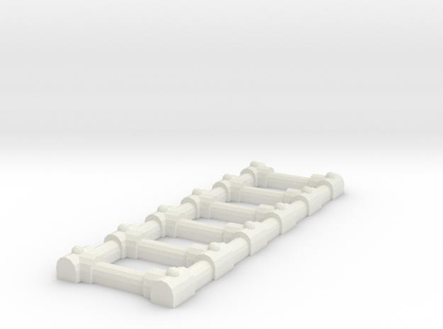 Ladder in White Natural Versatile Plastic