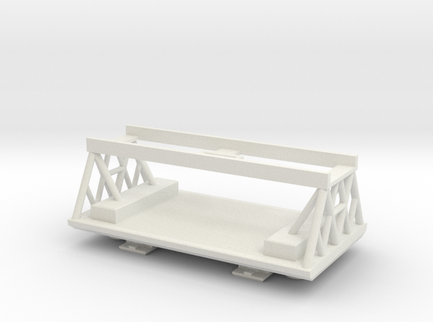 Space 1999 Palette / Winch Pod For Dinky Eagle in White Natural Versatile Plastic