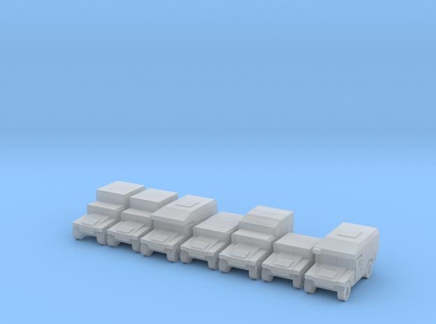 1/400 Humvee HMMWV 7 types in Smooth Fine Detail Plastic