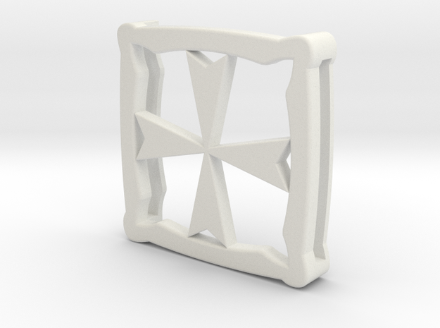 Shay's Templar Belt Bucket ( Assassin's Creed Rogu in White Natural Versatile Plastic