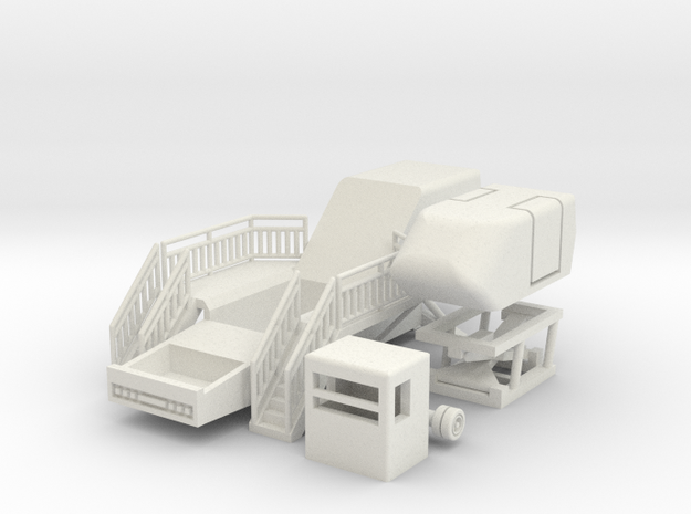 Simulator - 1:87 (H0 scale) in White Natural Versatile Plastic