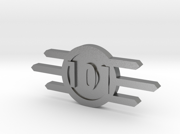 Fallout Vault-Tec badge With Vault Number in Natural Silver