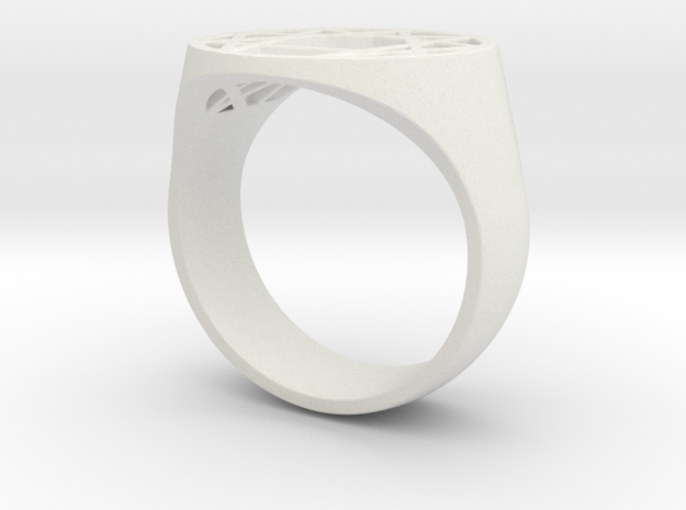 Enneagram Big Ring - Size 10.5 in White Natural Versatile Plastic