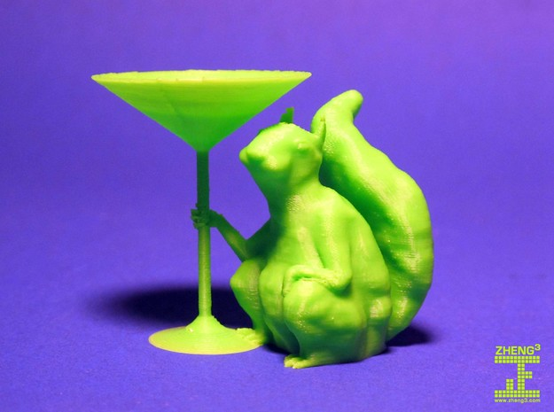 Martini Squirrel 3d printed