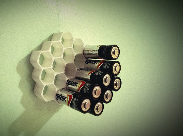 Honeycomb Battery Dispenser AA 3d printed
