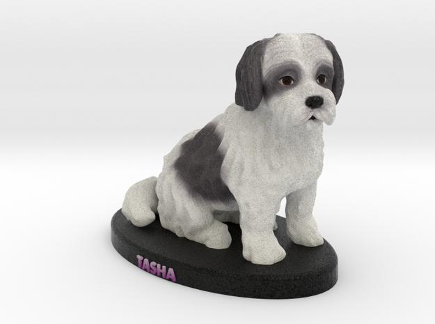 Custom Dog Figurine - Tasha in Full Color Sandstone