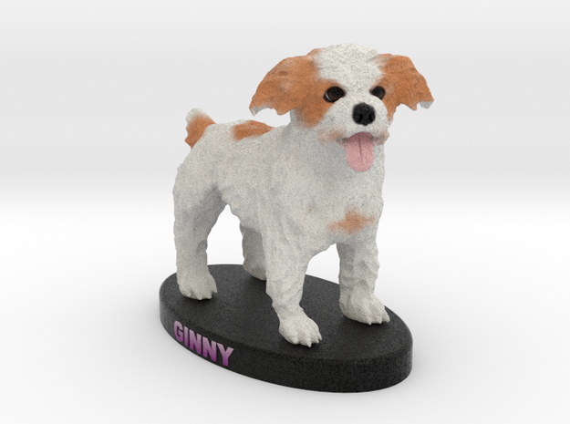 Custom Dog Figurine - Ginny in Full Color Sandstone