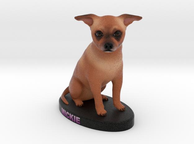 Custom Dog Figurine - Mickie in Full Color Sandstone