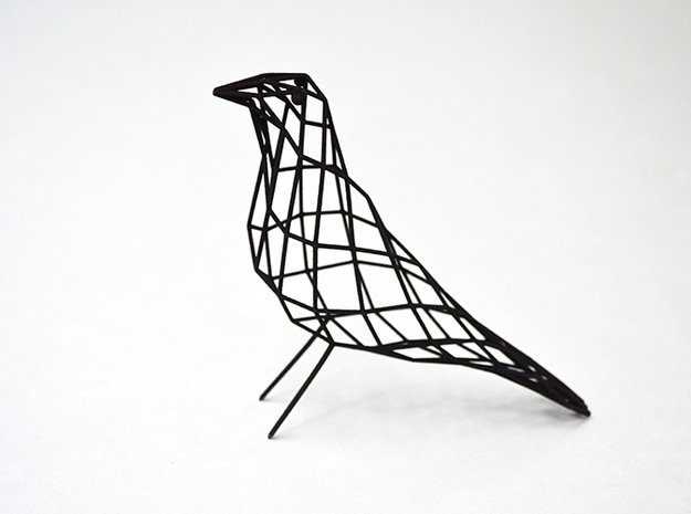 birdy - small (h:11cm/4.2In) in Black Natural Versatile Plastic