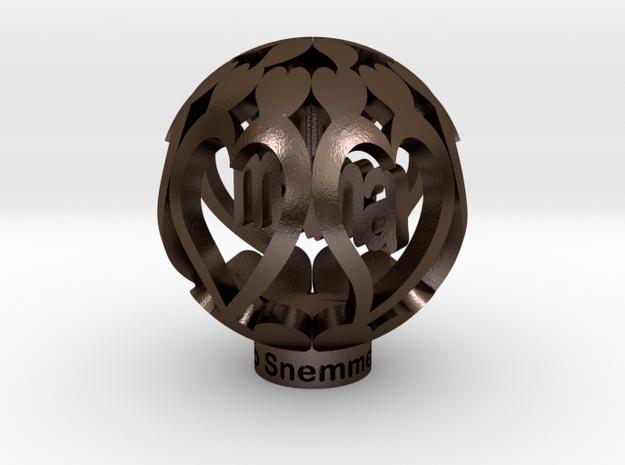 Youralwaysinmyhart Mama Staand 3cm Model in Polished Bronze Steel