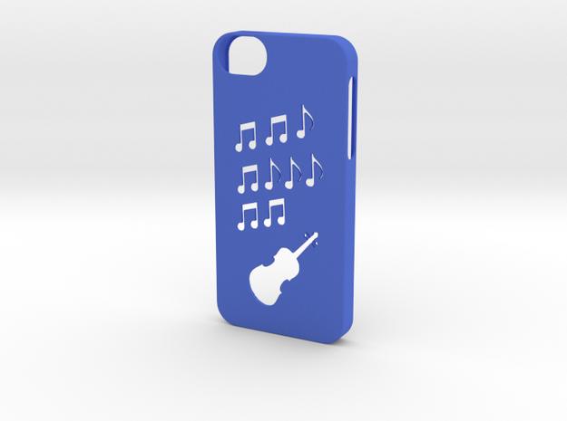 Iphone 5/5s music case  in Blue Processed Versatile Plastic
