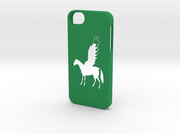 Iphone 5/5s pegasus case in Green Strong & Flexible Polished