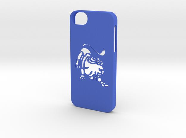 Iphone 5/5s leo case in Blue Processed Versatile Plastic