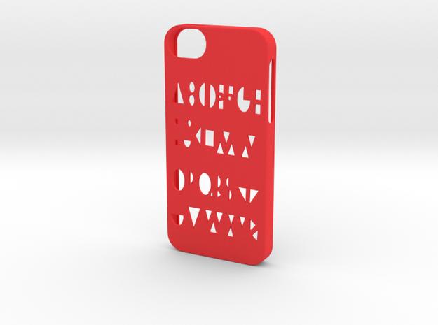 Iphone 5/5s geometry case in Red Processed Versatile Plastic