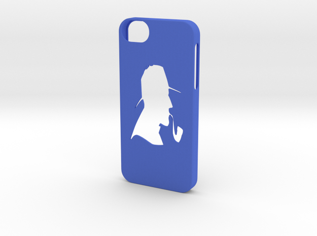 Iphone 5/5s detective case in Blue Strong & Flexible Polished