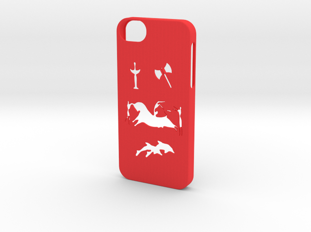 Iphone 5/5s minoan civilization case in Red Processed Versatile Plastic